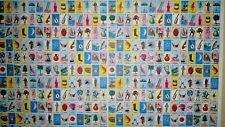 One Mini Loteria Bingo Game Poster Sheets Roll to make Cards Papel Para Cartas