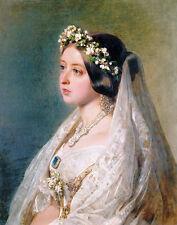 Winterhalter Xaver Frans Portrait Of Queen Victoria Print 11 x 14  #3647