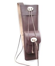 TRADITIONAL LEATHER BACK ARROW QUIVER AQA10921 REGULAR