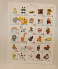 Salesman Sample Card of 30 Hand Painted Novelty Buttons, Collectors & Crafts # 4
