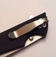 Titanium Pocket Clip For Zero Tolerance ZT0350 & Kershaw Skyline Knife Tip Down