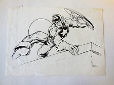 Captain America Original Art Sketch Mike Zeck Comic Art