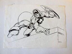Captain America Original Art Sketch     Mike Zeck