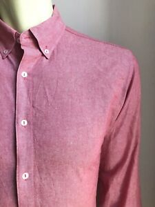 American Apparel Shirt, Red Chambray, Large, Excellent Condition