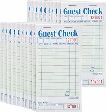 Stock Your Home Guest Check Books (20 Pk)- 50 Checks Per Book,Total 1000 Checks