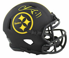 Steelers Chase Claypool Authentic Signed Eclipse Speed Mini Helmet BAS Witnessed