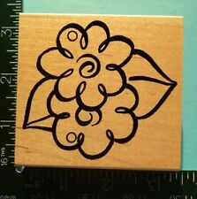 Whimsical Flowers and Leaves Rubber Stamp by Embossing Arts