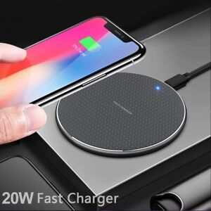 20W Fast Wireless Charger For iPhone 11 XS XR 8 Plus USB 10W Charging Pad for