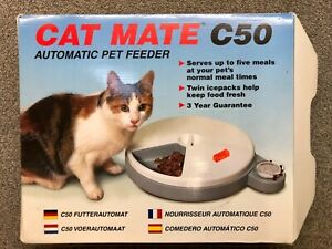 Rosewood Cat Mate C50 Automatic 5 Meal Pet Feeder With Timer & Ice Packs VGC