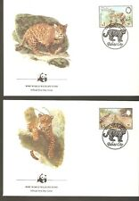 1983   BELIZE  -  4 x WWF FIRST DAY COVERS  -   JAGUAR