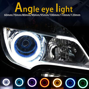 60-120MM COB Angel Eyes Halo 12V Car LED Light Ring DRL Headlight Lamp For BMW