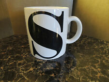 """Personalized Initial Coffee Mug Letter ~S~ 3 3/4 """""""