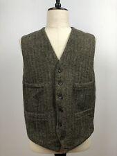 J Crew Mens Moon 100% Wool Tweed Vest Waistcoat Size XL