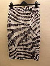 H&M Black And White Pencil Skirt Size Eur 36 (8)