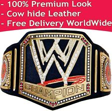 WWE Championship Replica Title Belt Leather Scratch logo Leather Premium Look