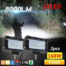 2Pcs 168W Flood LED Work Light Bar Car Boat Off-Road Fog Driving Light Universal