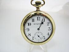 c105 Vintage 1914 Burlington Special Open Face Pocket Watch - Gold Filled