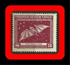 FAUNA, RED BAT, STENODERMA CHILENSIS, CLAUDIO GAY BOOK, MNH, AIR MAIL, 1948