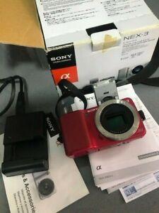 Cuerpo de cámara Sony NEX-3  perfecto estado 14,2MP,con Adaptador MD-FX Minolta