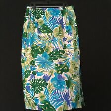Savvy by Rafael Women's 100% Silk Maxi Floral Lined Skirt Size 14 NWT