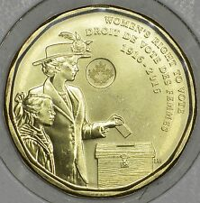 CANADA 1$ Dollar 2016 Women's right to vote (1916-2016) in MS