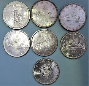 Canada Silver Dollars ( 7 )
