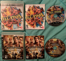 WWE ALL-STARS & WWE LEGENDS OF WRESTLEMANIA PS3 PLAYSTATION 3 COMPLETE CIB WORKS