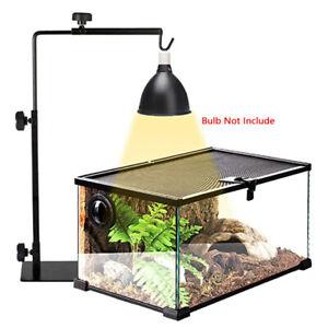 Reptile Lamp Stand Heating Lamp Holder Adjustable Telescopic Metal Light Hanger