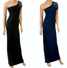 Viscose Patternless Round Neck Sleeveless Dresses for Women