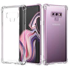 Samsung Galaxy Note 9 Shockproof Bumper Case Clear Gel TPU Transparent Cover