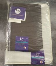 JOY MANGANO Luxury Supreme  Bath Mat with Memory Foam Insert 2-piece Set (Brown)
