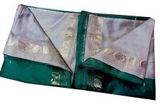Vintage Indian Ethnic Saree Pure silk Floral Printed Sari Craft Fabric 5YD SP12