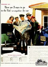 POST CARD OF A MAGAZINE ADVERTISEMENT FOR ETHYL HIGH PERFORMANCE GASOLINE