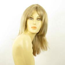 Perruque femme mi-longue blond méché blond très clair SOANNE 15t613