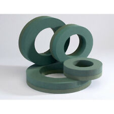 """12"""" FLORIST WREATH RING WITH FOAM BASE - WET FLORAL FOAM - PACK of 12"""