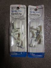 2 pkg of 6 RadioShack model # 278-1669 Speaker Wire Cable Clips with free ship!