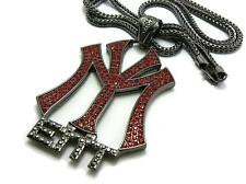 ICED OUT BLACK&RED YOUNG MONEY PIECE & FRANCO CHAIN.