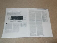 Pioneer A-88x Amplifier Review, 2 pgs, 1985, Full Test