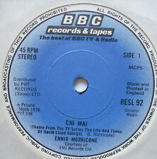 "ENNIO MORRICONE - Chi Mai - LLoyd George Theme - Excellent Con 7"" Single RESL 92"