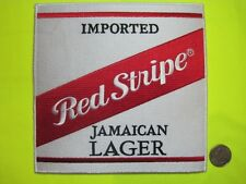 BEER PATCH RED STRIPE JAMAICAN LAGER BEER BACK SIZE LOOK AND BUY NOW*
