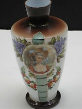 BEAUTIFUL ANTIQUE LTD ED 10/4999  HAND PAINTED AUSTRIAN 10+ inch VASE*FLOWERS+++