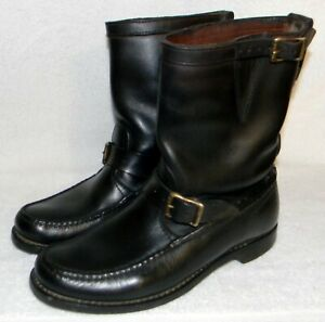 "GOKEY vintage ""Botte Sauvage"" snake boots, engineer style, motorcycle, sz.8.5M"