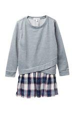 Ten Sixty Sherman Girls Mixed Media Sweatshirt Dress