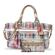 NWT COACH Multi Tartan Signature Sequins Rocker Satchel Crossbody Bag Purse NEW