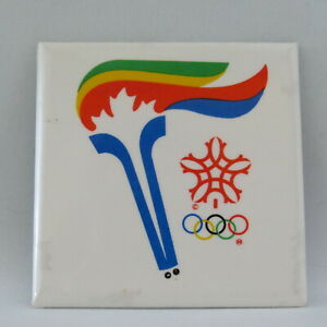 Rare - 1998 Winter Olympc Games - Olympic Torch Relay Button - Made of Paper