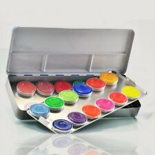 Kryolan Aquacolor - 24 Color Makeup Palette Kit 1108AC for Face and Body Paint