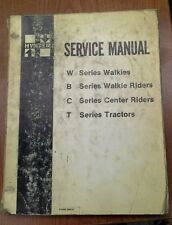 Hyster Service Manual for Models W.B.C.T