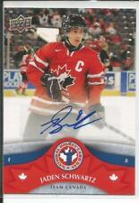 12-13 Upper Deck National Hockey Card Day Autograph Jaden Schwartz Auto Blues