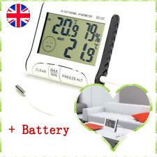 Indoor Outdoor Digital Sensor Thermometer Hygrometer Humidity Meter ℃/℉ Max Min