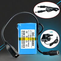Portable DC 12V 2 In 1 Rechargeable 1800Mah Li-ion Battery Pack UK Adapter